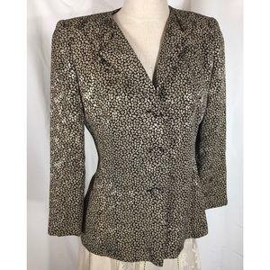 Carolina Herrera Luxe Designer Silk Blazer Jacket